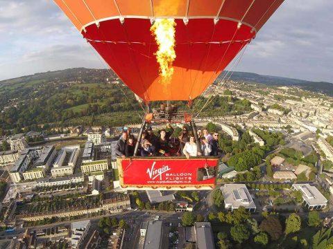Beautiful Virgin hot air balloon ride