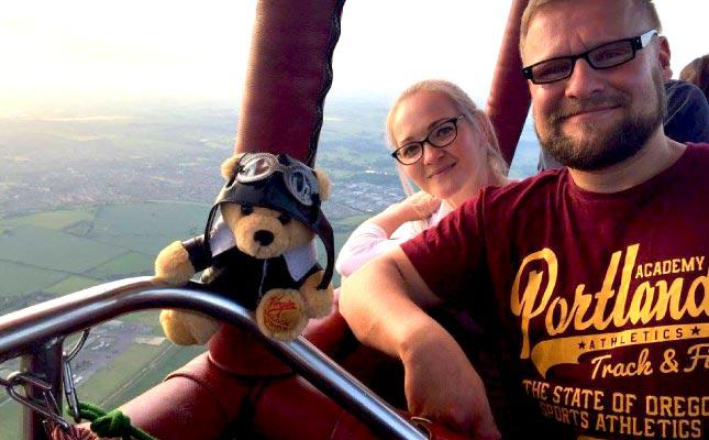 Bear In A Box Gift Package Hot Air Balloon Ride Experience For Two